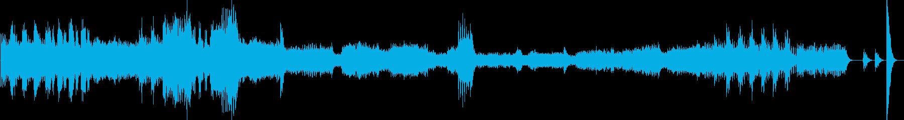 軽快なオーケストラ曲の再生済みの波形