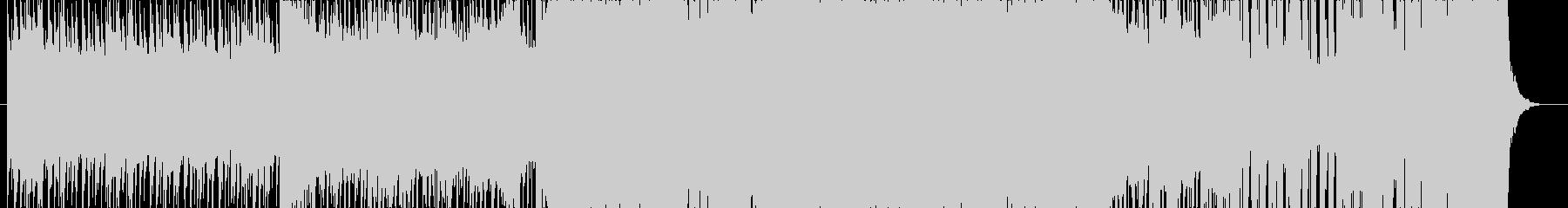 アップテンポな和楽器BGMの未再生の波形