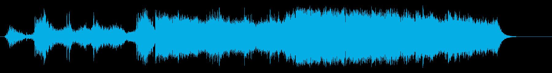 環境音楽(山岳ドキュメント・タッチ)の再生済みの波形