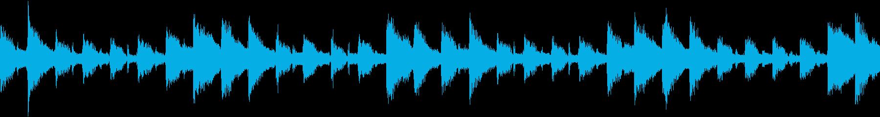 ギター、ベル、グロッケンシュピール...の再生済みの波形