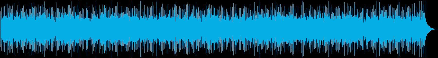 昔懐かしいような優しいフォーク調BGMの再生済みの波形