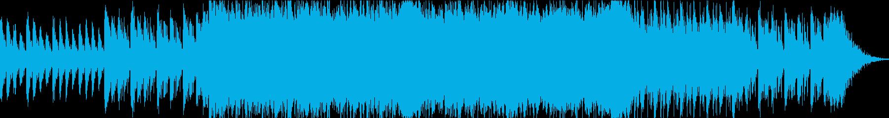 緊迫した戦闘中を思わせるBGMの再生済みの波形