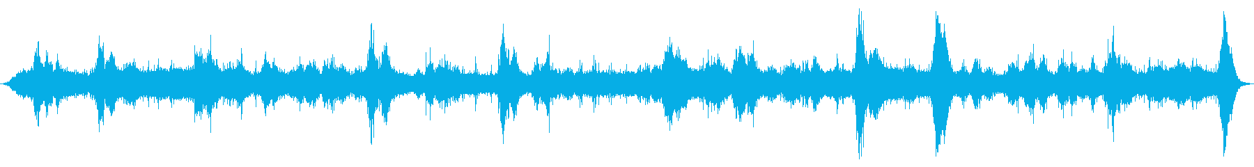 海洋:火山岩の上に中程度の波、重い波の再生済みの波形