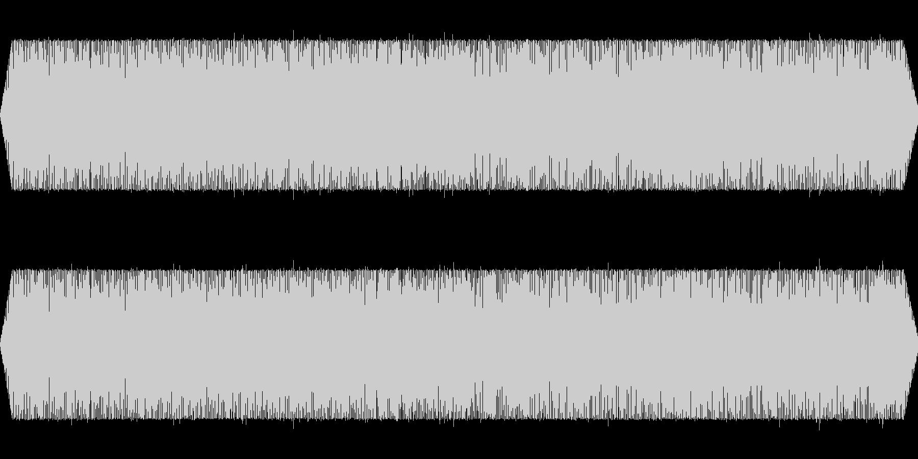 旅客機飛行中(機外から撮影したシーンに)の未再生の波形