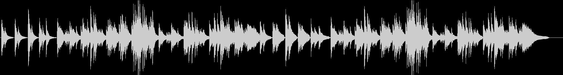 穏やかで切ないピアノソロ_002の未再生の波形