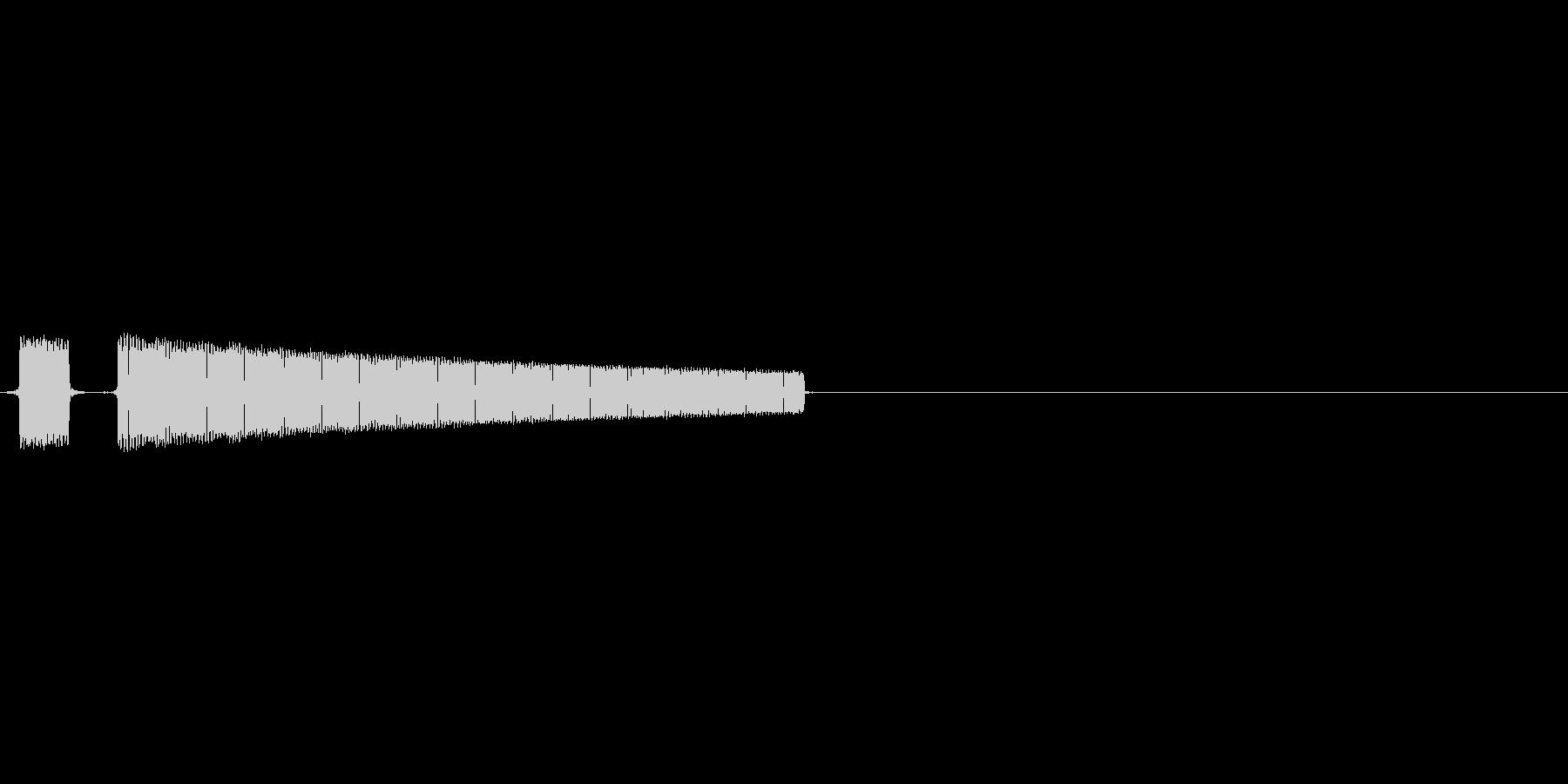 ブッブーハズレですの未再生の波形