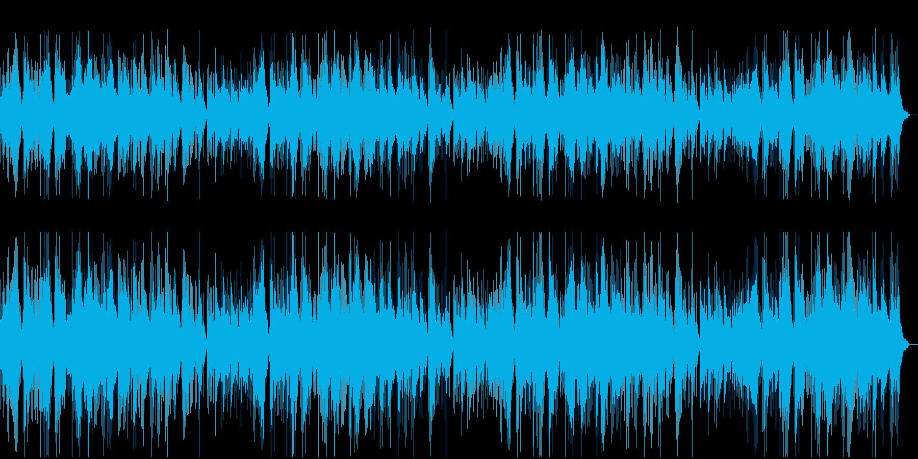優しく温もりのあるオルゴールの再生済みの波形