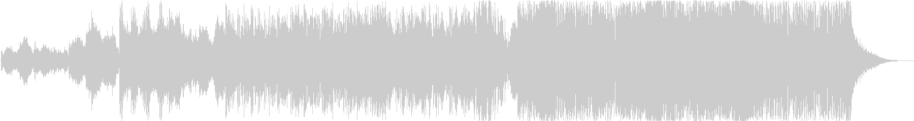 お正月にぴったりな和風オーケストラロックの未再生の波形