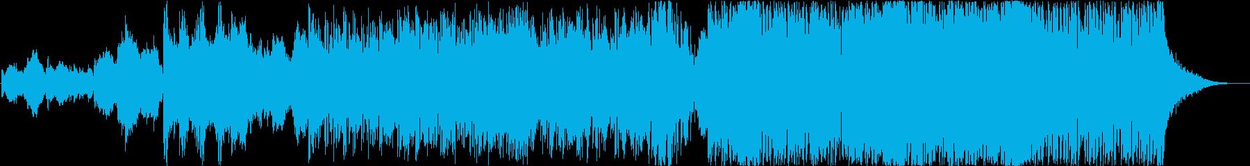 お正月にぴったりな和風オーケストラロックの再生済みの波形