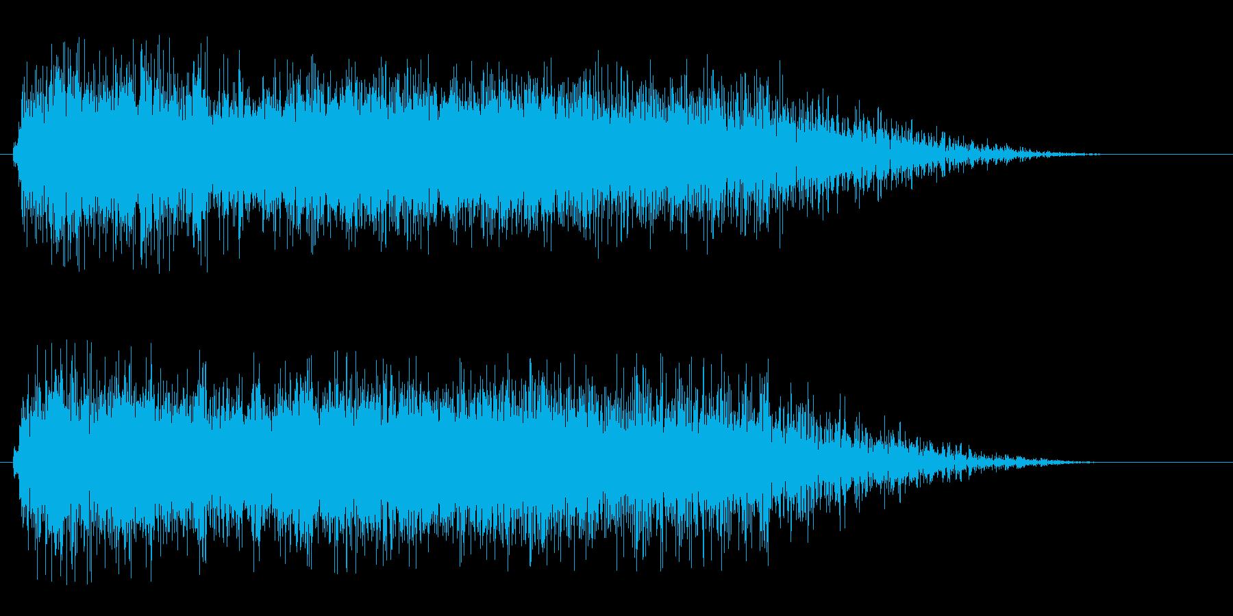 レーザービーム発射(クリアー・高音)の再生済みの波形