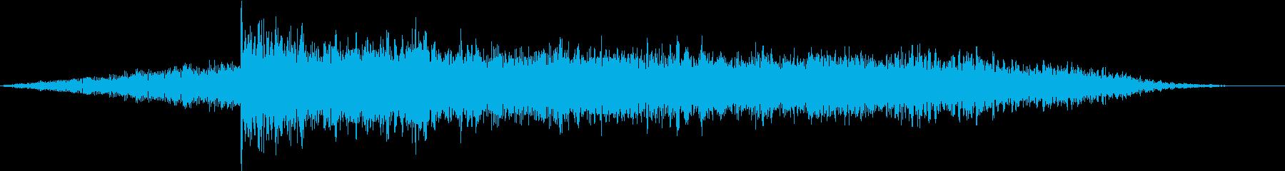 なんかヤバイところに来た音の再生済みの波形