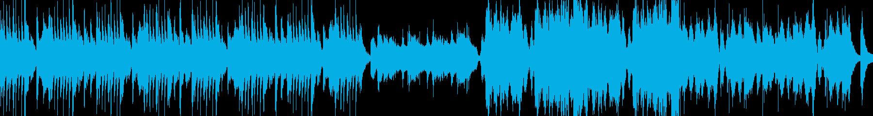 ピアノとストリングスの洋風ホラー曲の再生済みの波形