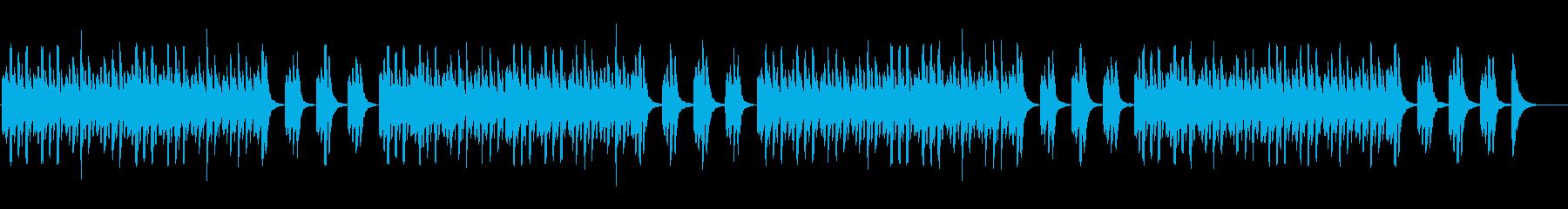 ナレーション邪魔しないシンプルなマリンバの再生済みの波形