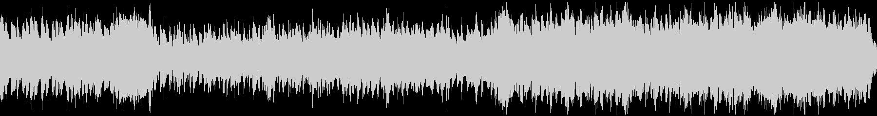 激しいドラマのオーケストラ曲(ループ)の未再生の波形