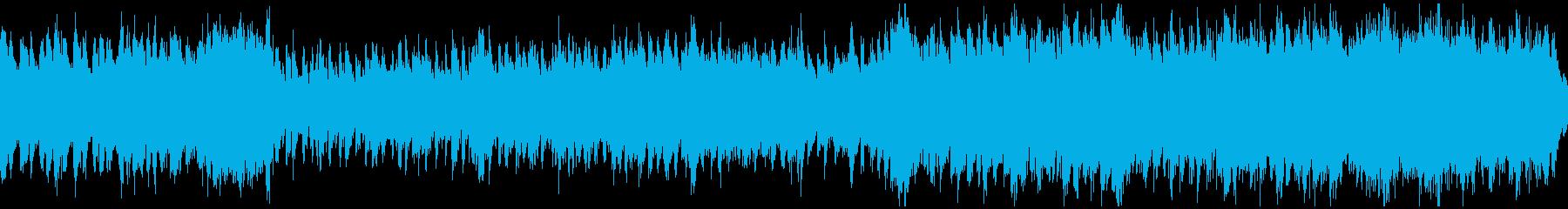 激しいドラマのオーケストラ曲(ループ)の再生済みの波形