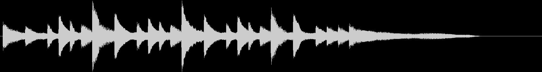 透き通った音色で優しい冬のピアノジングルの未再生の波形
