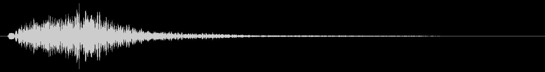 キャラン(高音の金属弦・鍵盤を弾いた音)の未再生の波形