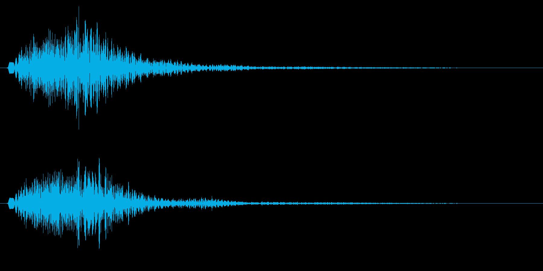 キャラン(高音の金属弦・鍵盤を弾いた音)の再生済みの波形