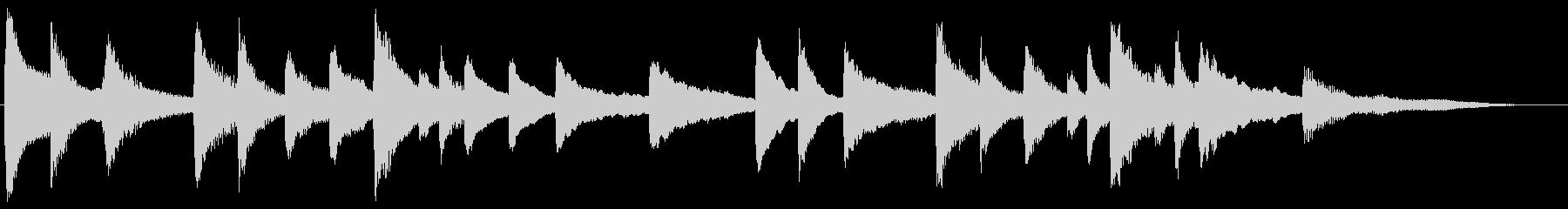 子守唄風 スローで優しいピアノ・ジングルの未再生の波形
