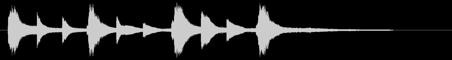 切なく暖かいピアノジングルの未再生の波形
