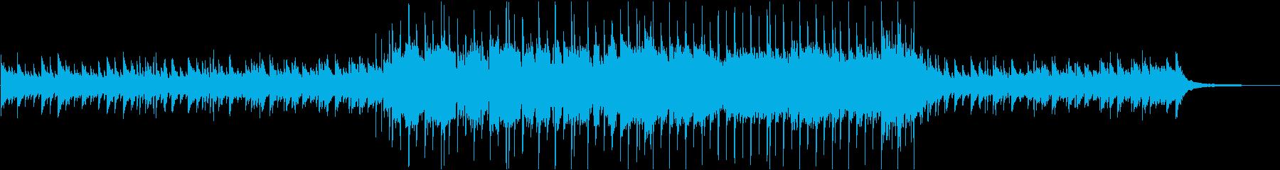 映像用、穏やかで優しいBGMの再生済みの波形