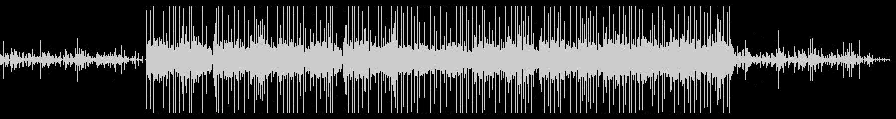 オルゴールとピアノのチルヒップホップの未再生の波形