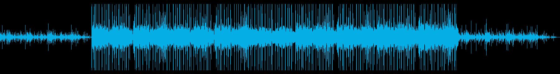 オルゴールとピアノのチルヒップホップの再生済みの波形