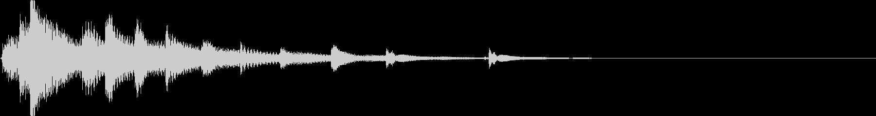 和風動画のタイトル画面に最適な琴のMEの未再生の波形