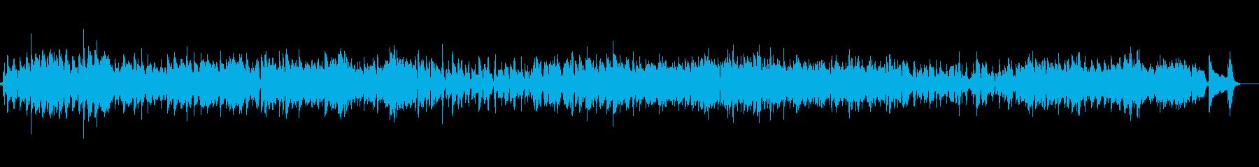 軽快なストロークのアコースティックギターの再生済みの波形