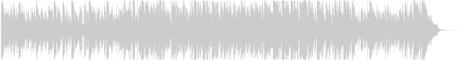 ピッコロのソロが印象的なジャズBGMの未再生の波形
