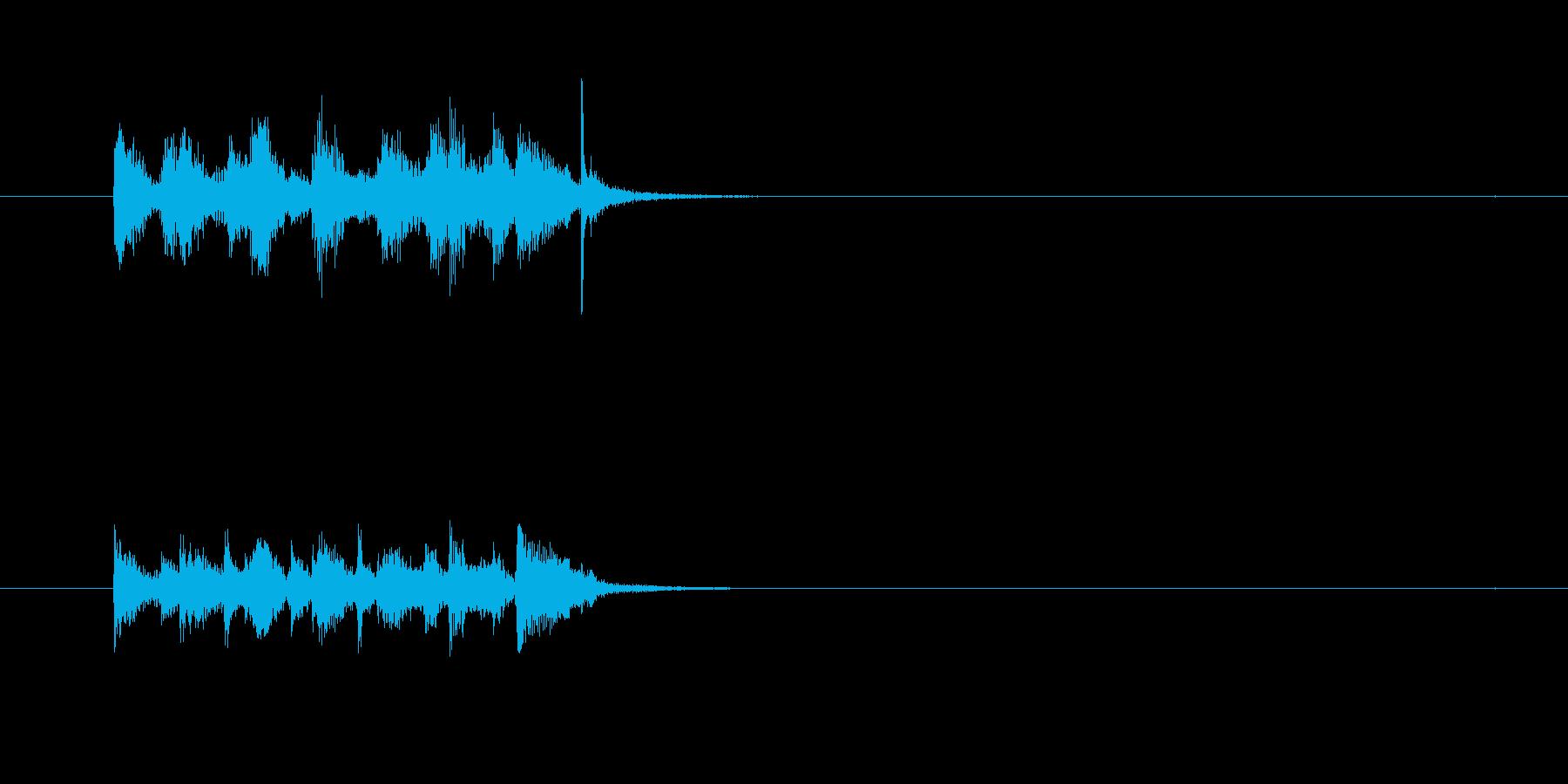 コミカル ギャグ シンセサイザー ボケの再生済みの波形