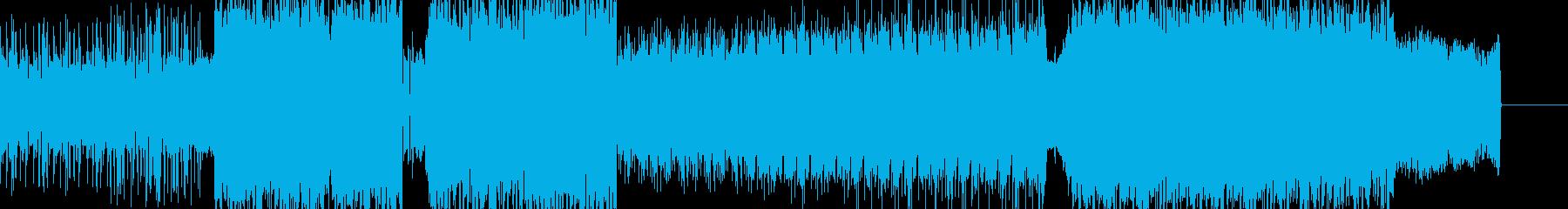 ノリのいいヘビーなダブステップの再生済みの波形