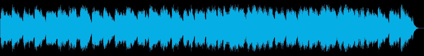 ゆったりとした景色をイメージできるBGMの再生済みの波形