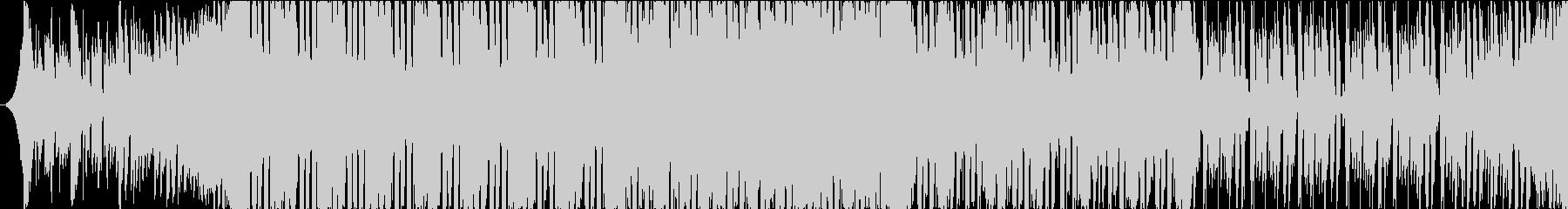 激しいピアノループ物の未再生の波形