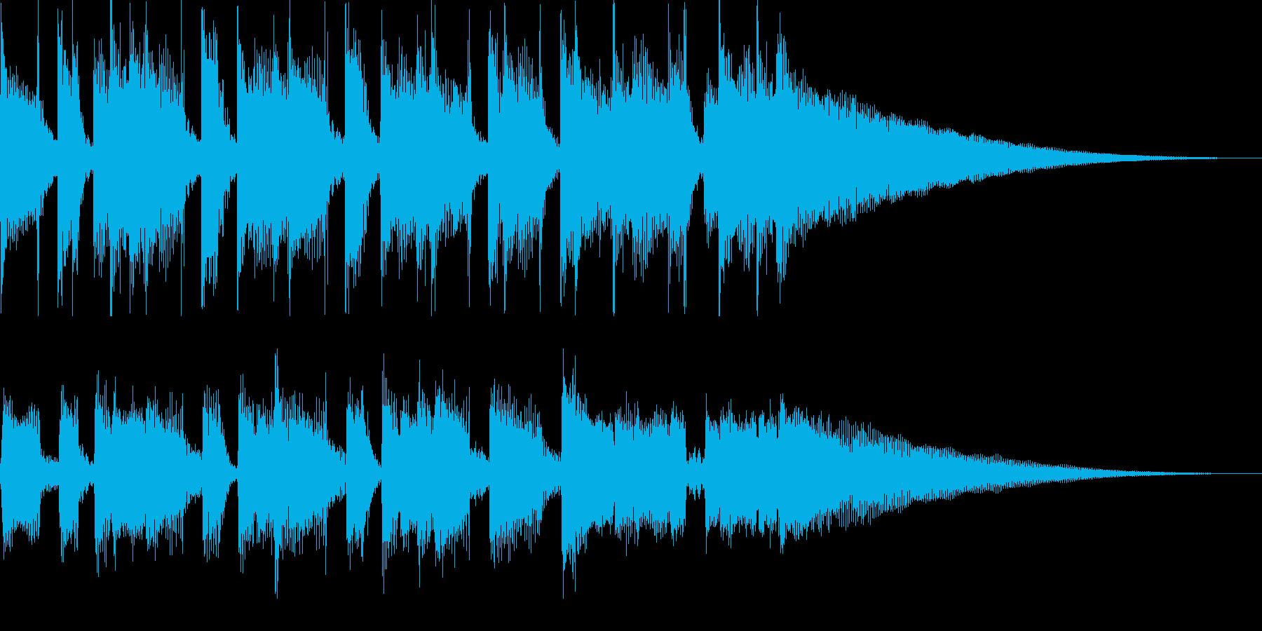 アコ-スティックギターの明るいジングルの再生済みの波形
