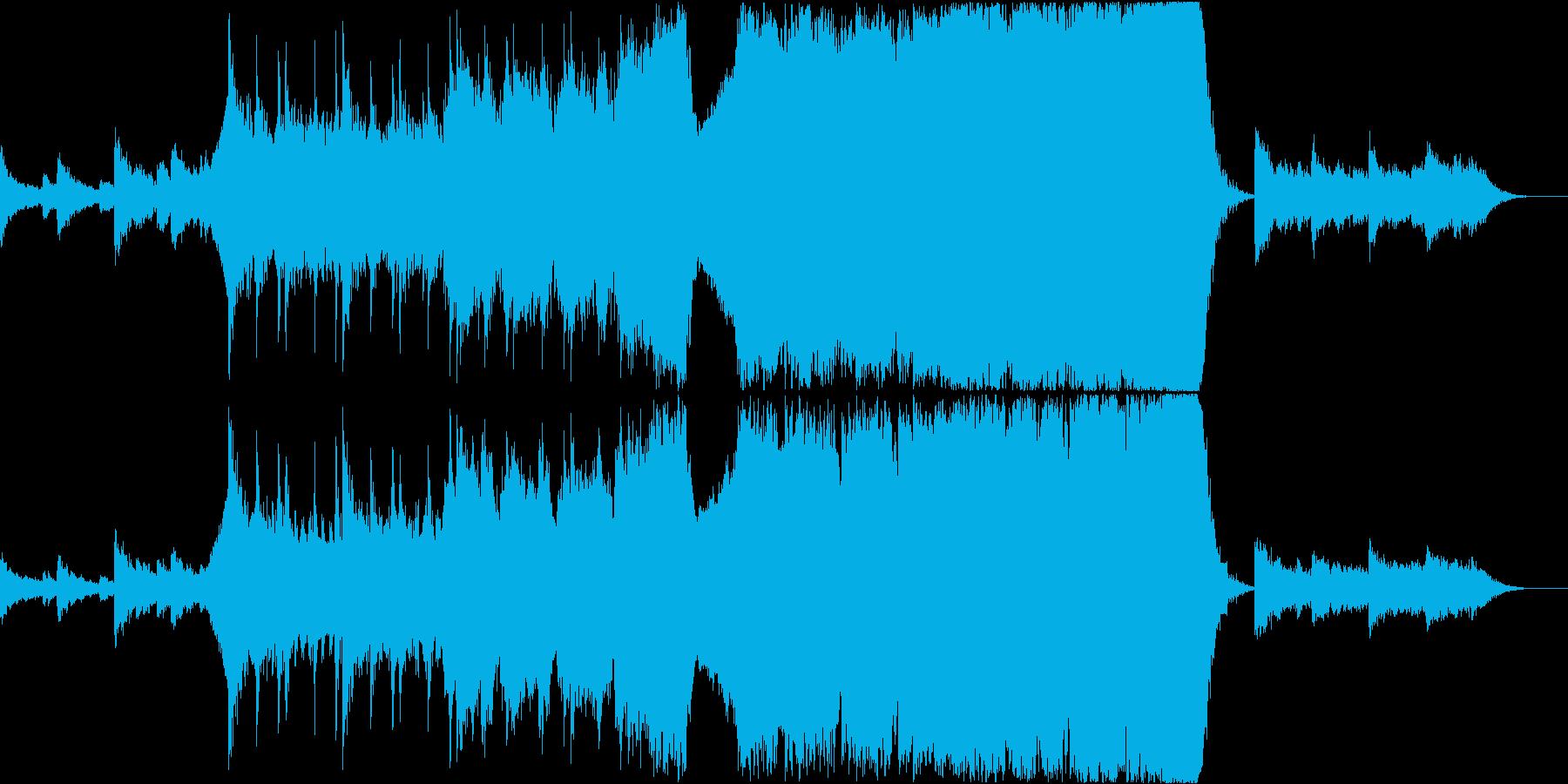 オーケストラによる小品の再生済みの波形
