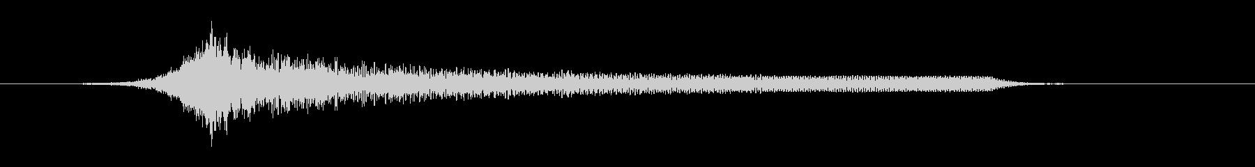 シューッ → 爆発_01の未再生の波形