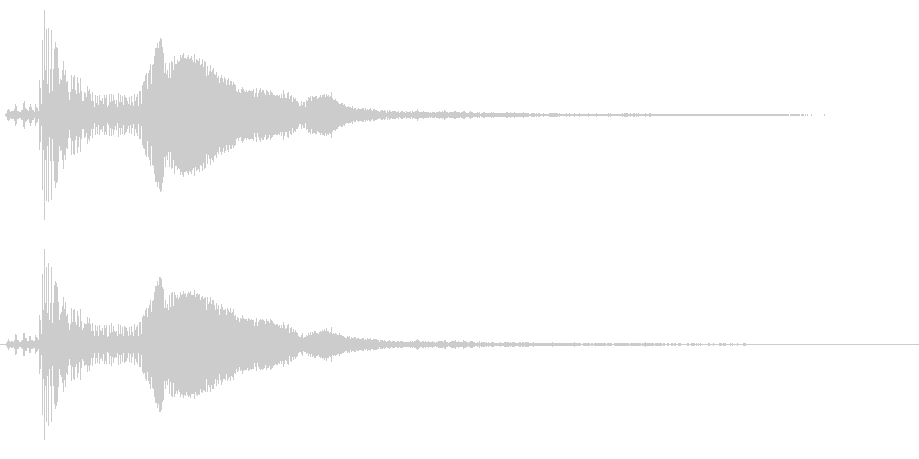 車の出発と運転(後方から見た図)の未再生の波形