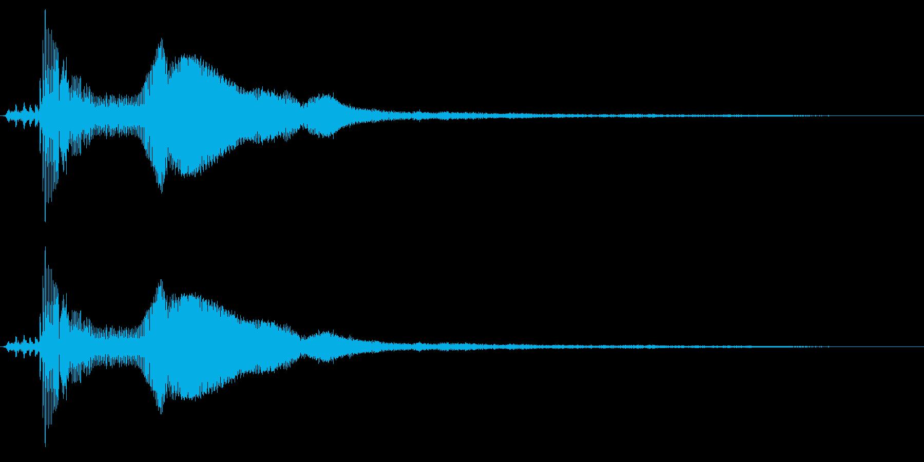 車の出発と運転(後方から見た図)の再生済みの波形