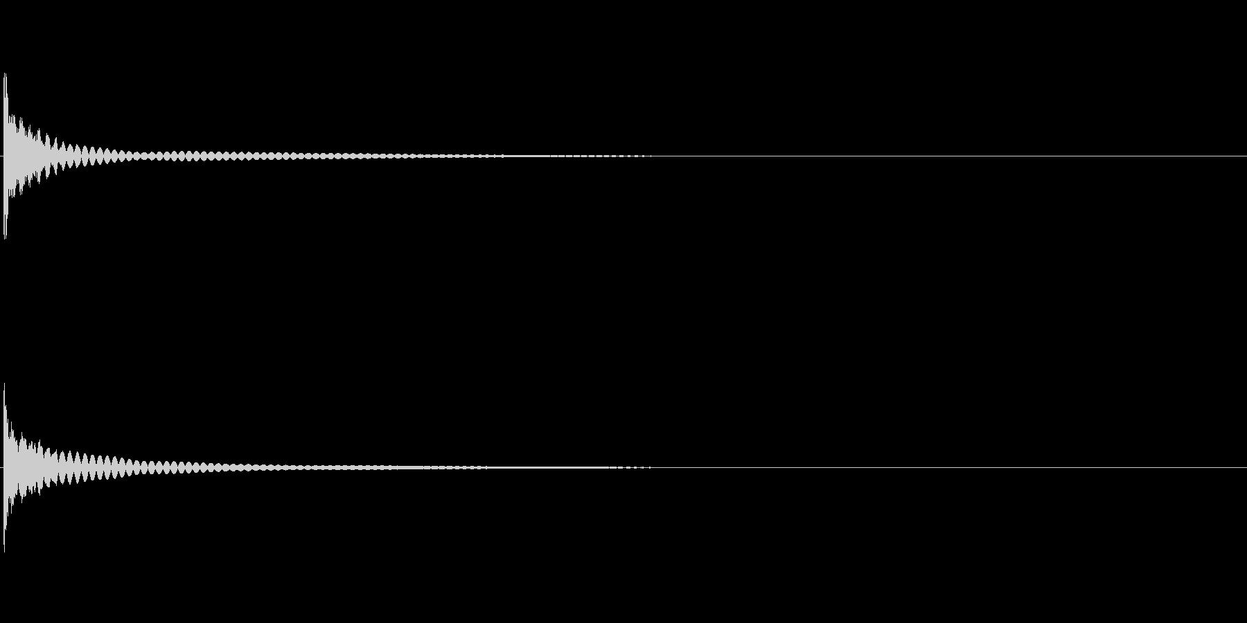キーン(金属製のベルの音)の未再生の波形