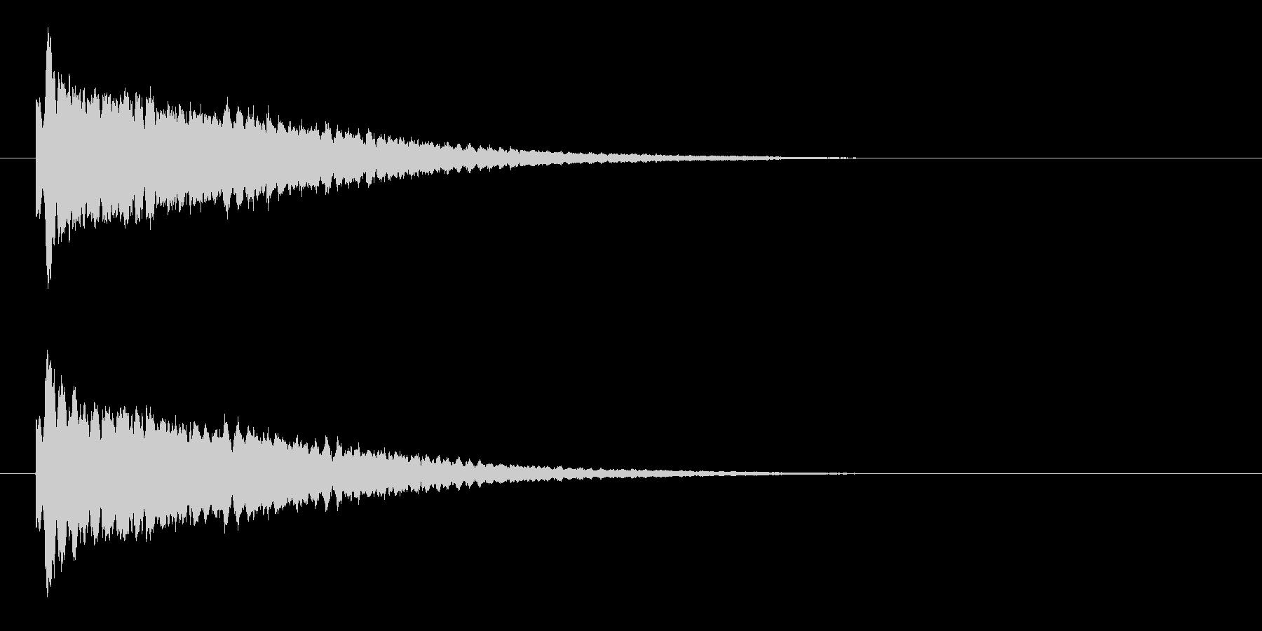 キラーンという爽やかなキラキラ音の未再生の波形