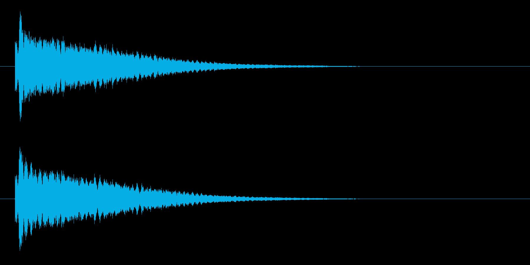 キラーンという爽やかなキラキラ音の再生済みの波形