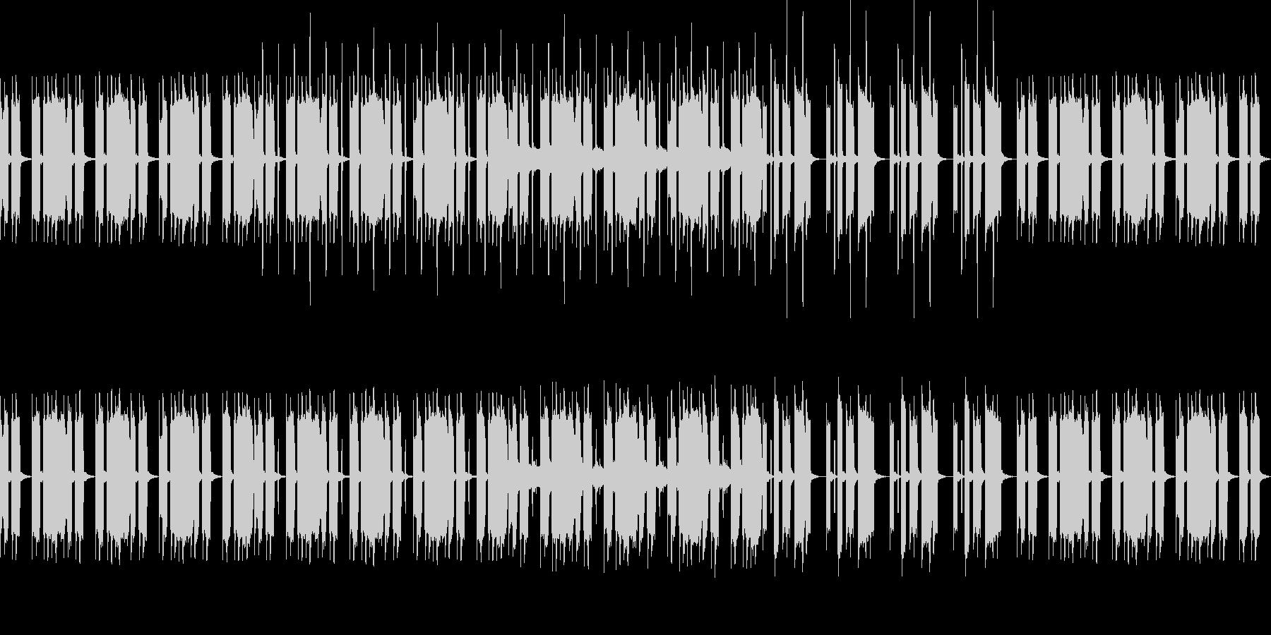 女性ボーカルがリズムを刻むポップスの未再生の波形