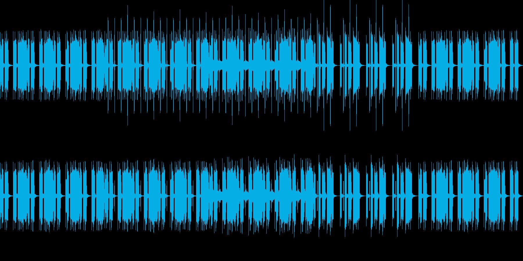 女性ボーカルがリズムを刻むポップスの再生済みの波形