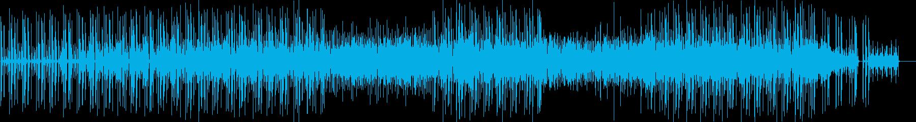 クールなギターのミニマルファンクの再生済みの波形