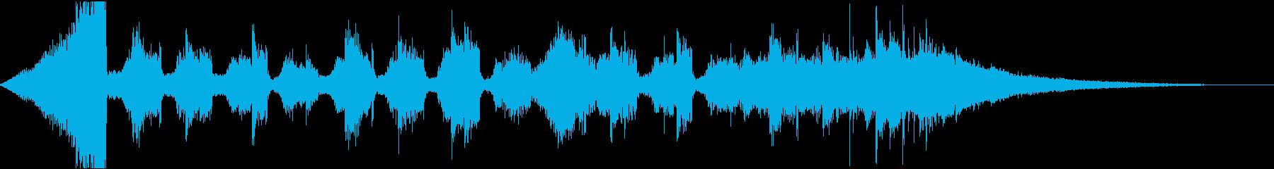 チルアウトおしゃれなトロピカルハウスfの再生済みの波形