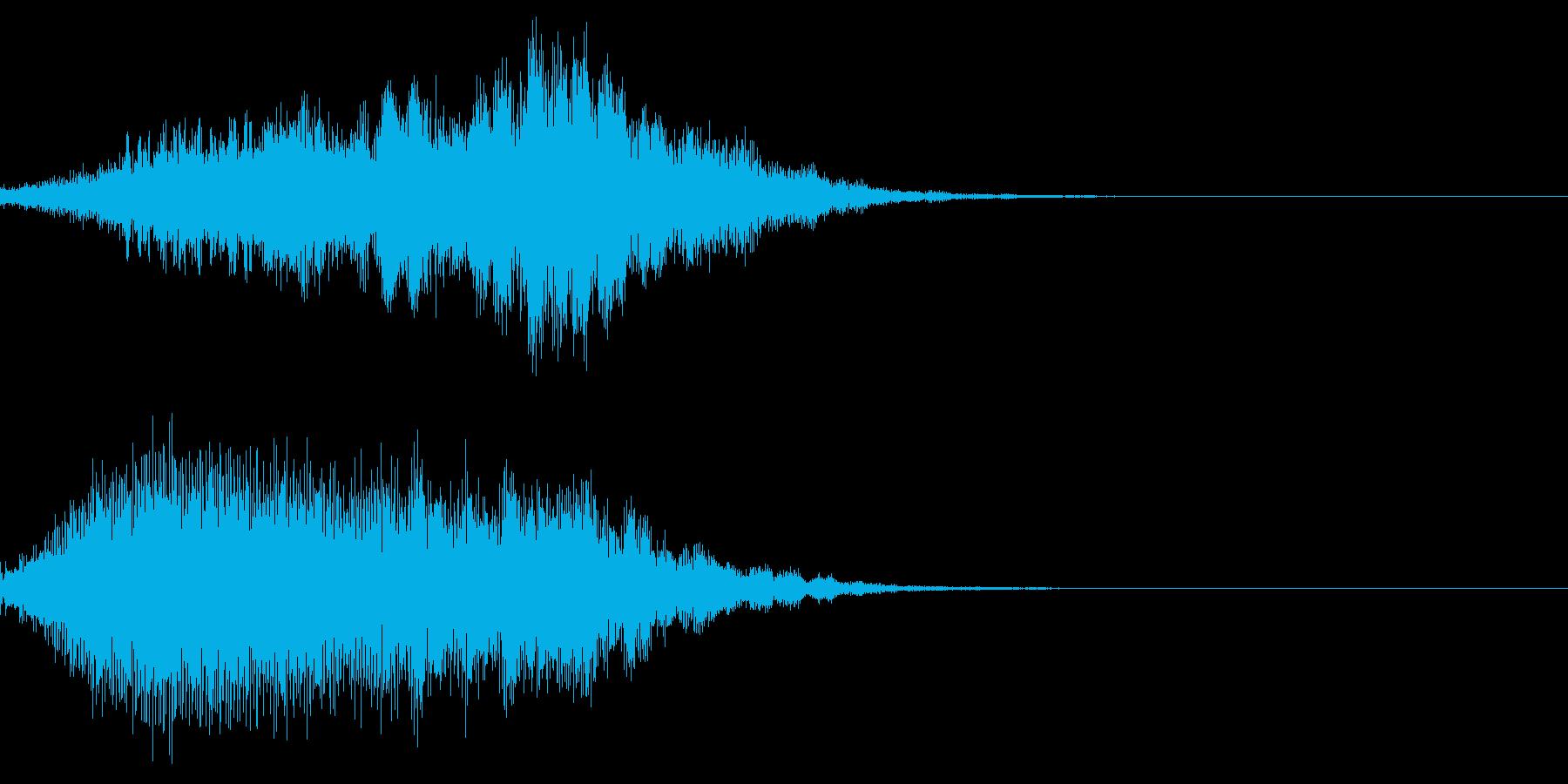 環境音を含んだ綺麗なオープニングの再生済みの波形