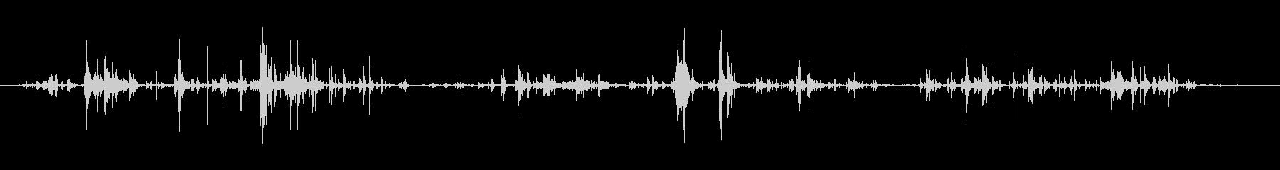 キーホルダーのチャリチャリ音7モノラルの未再生の波形