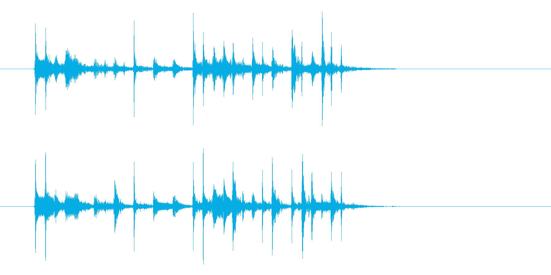シンプルなテクノの不思議な音色のジングルの再生済みの波形