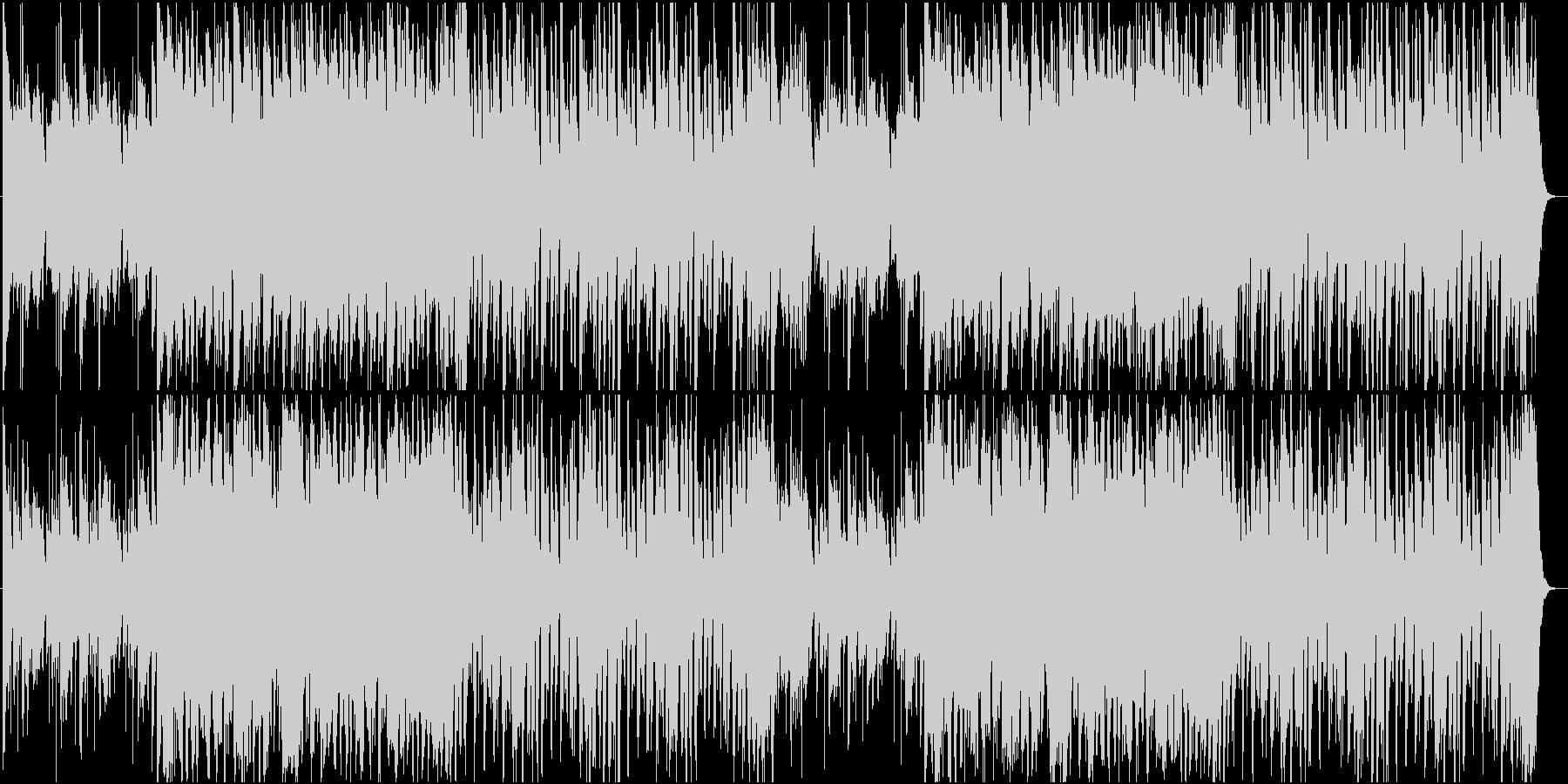 やや明るくゆったりした和風曲の未再生の波形